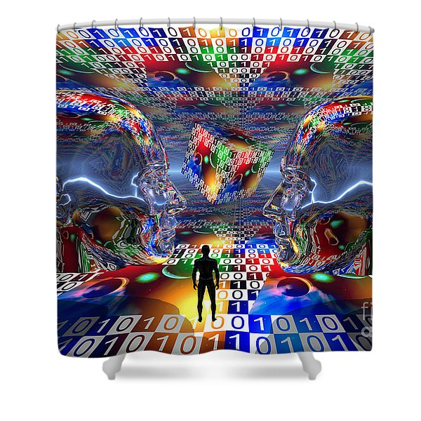 The Search For Extraterrestrial Life Shower Curtain by Mark Stevenson
