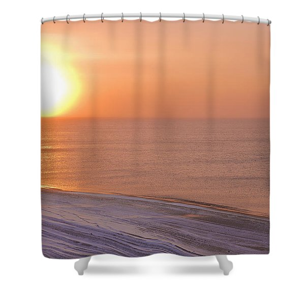 The Setting Sun Shining Through Shower Curtain by Kevin Smith