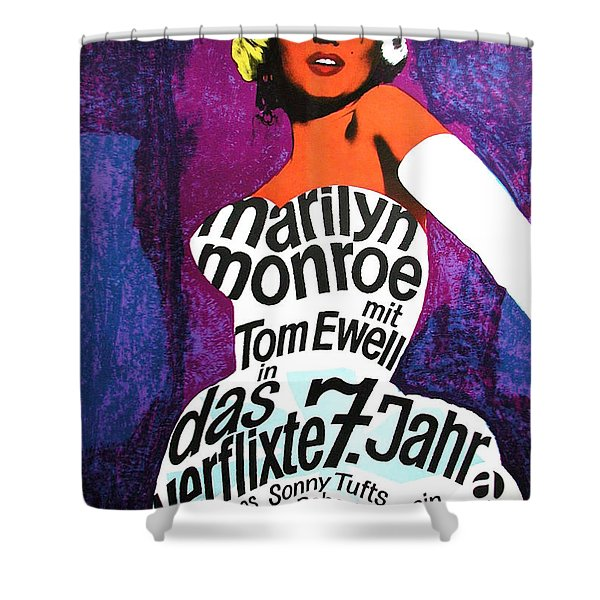 The Seven Year Itch German Shower Curtain by Nomad Art And  Design