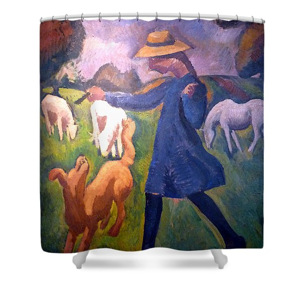 The Shepherdess Shower Curtain by Roger de La Fresnaye