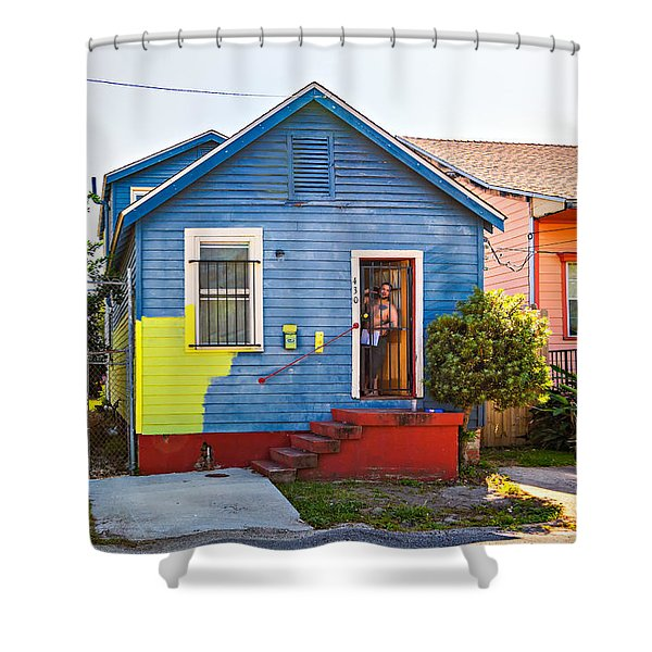The Shotgun Decorator Shower Curtain by Steve Harrington