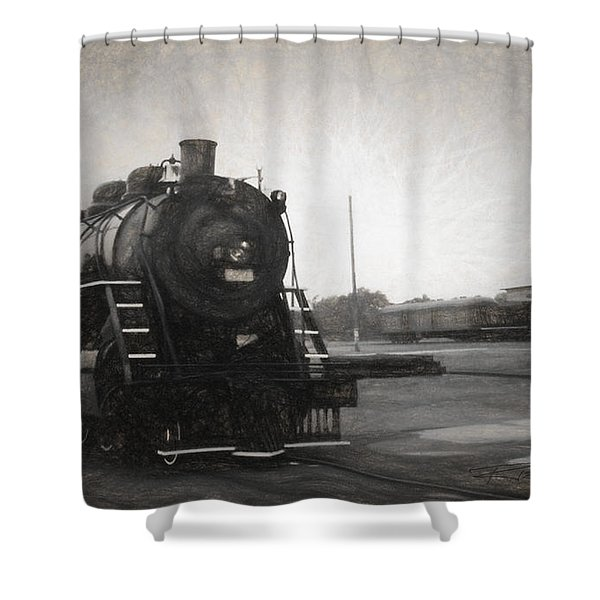The Spencer Yard Shower Curtain by Richard Rizzo