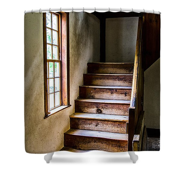 The Stairs Shower Curtain by Karol  Livote