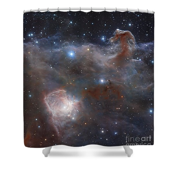 The Star-forming Region Ngc 2024 Shower Curtain by Robert Gendler
