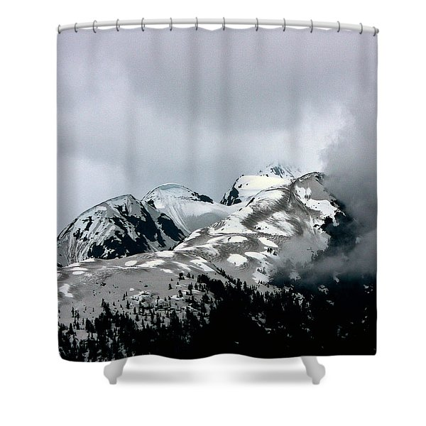The Storm Rolls Into Glacier Bay Shower Curtain by John Haldane