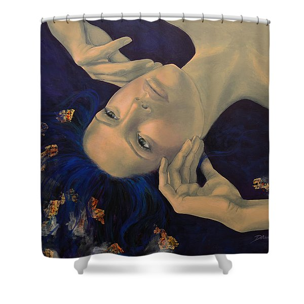 The Story of the Sixth Sense Shower Curtain by Dorina  Costras