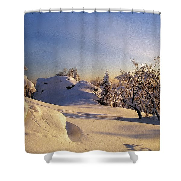 The sunset Shower Curtain by Aged Pixel