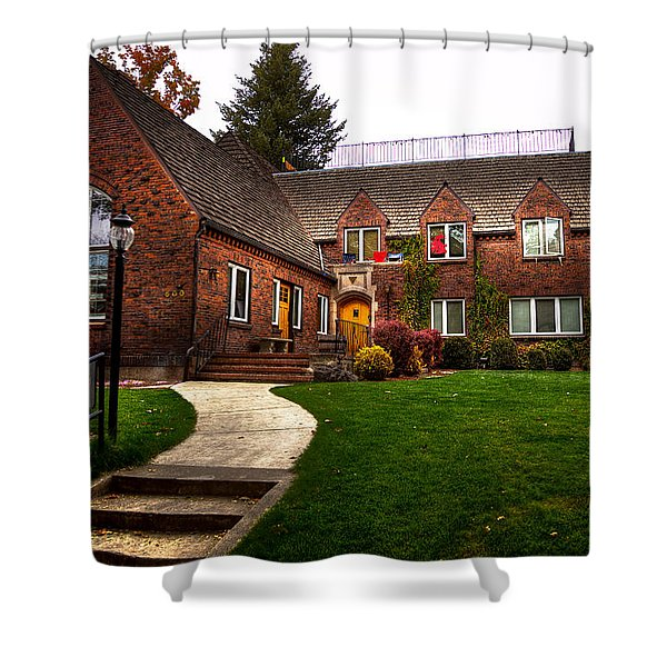 The TKE House on the WSU Campus Shower Curtain by David Patterson