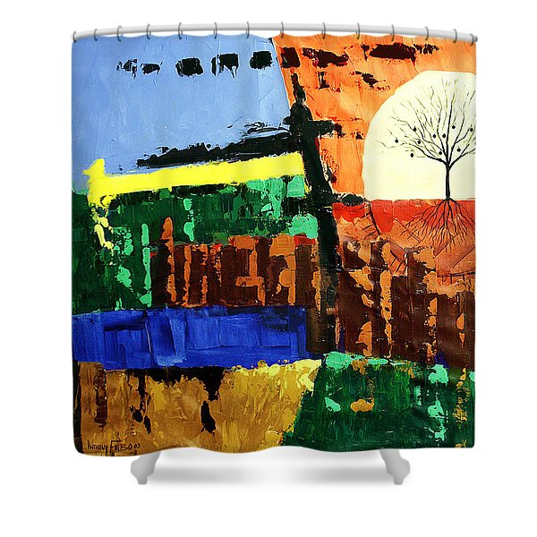 The Tree Of Knowledge Of Good And Evil Shower Curtain by Anthony Falbo