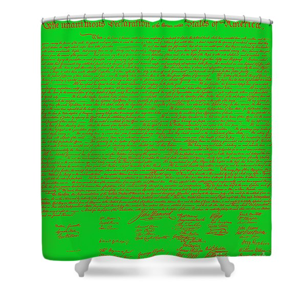The United States Declaration of Independence 20130215 Shower Curtain by Wingsdomain Art and Photography