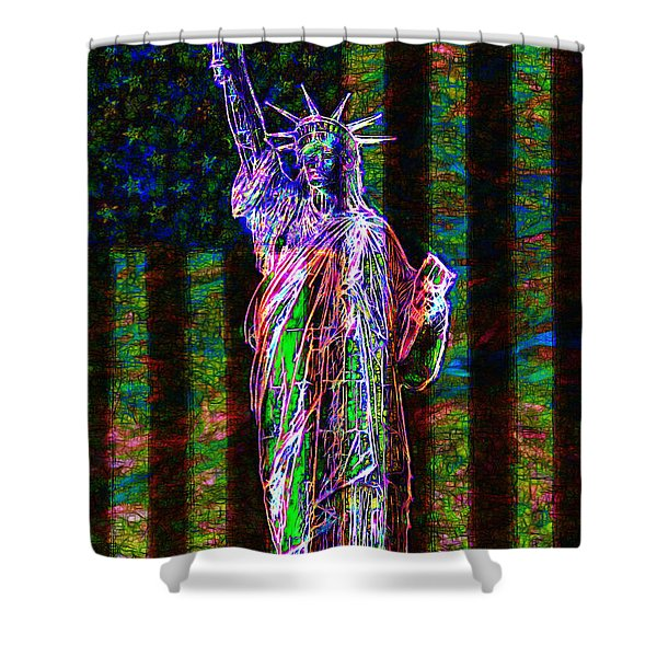 The United States of America 20130115 Shower Curtain by Wingsdomain Art and Photography