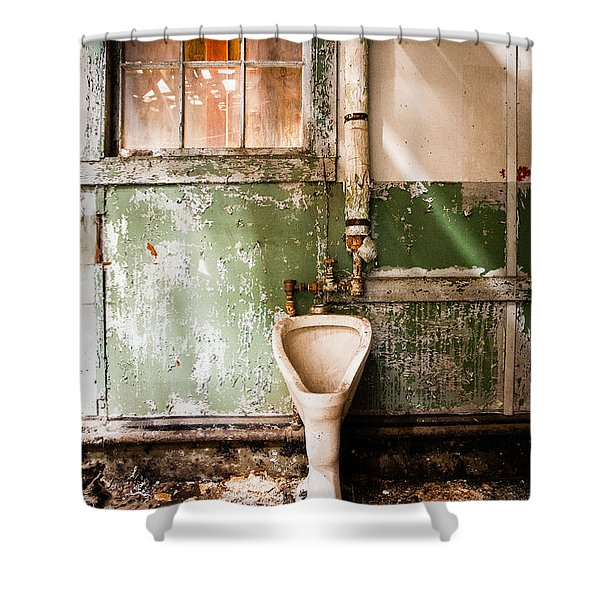 the urinal Shower Curtain by Gary Heller