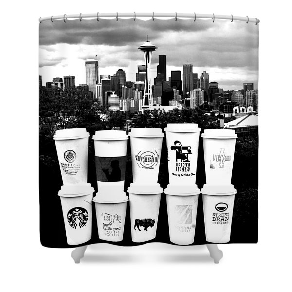 The Usual Seattle Suspects Shower Curtain by Benjamin Yeager