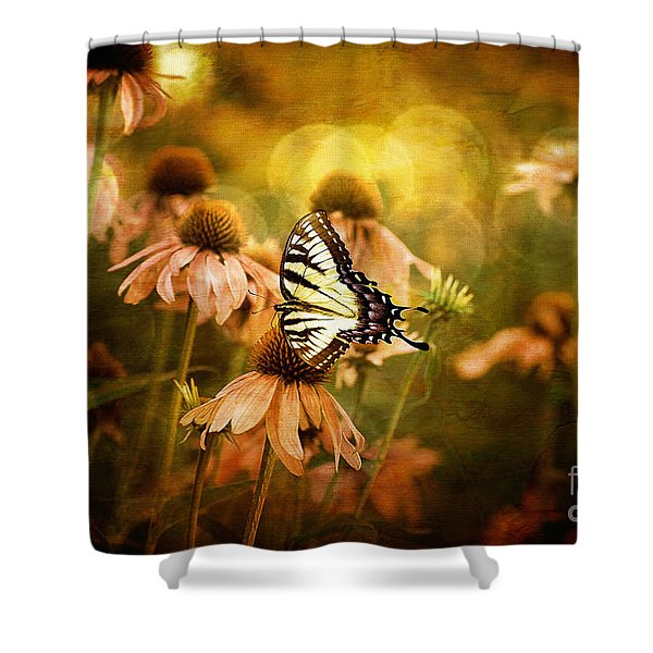The Very Young At Heart Shower Curtain by Lois Bryan