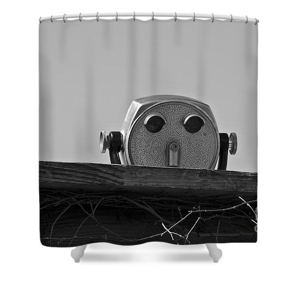 The Viewer No. 1 Shower Curtain by David Gordon