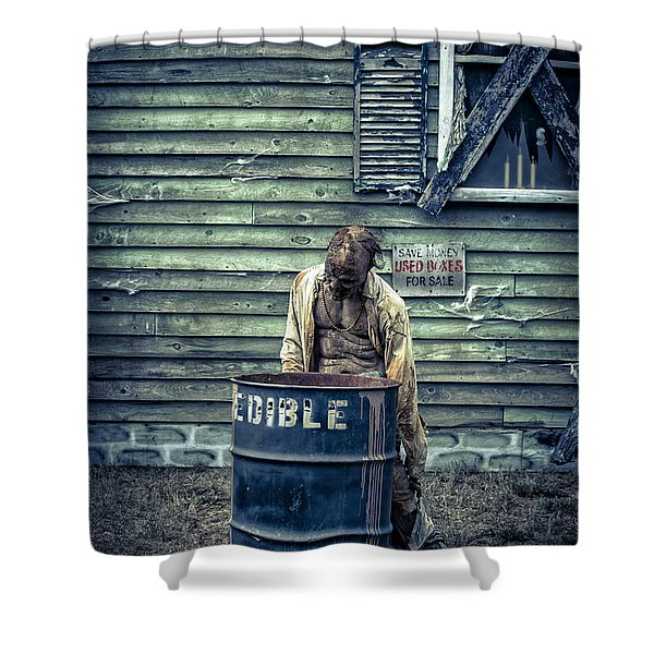 The Walking Dead Shower Curtain by Edward Fielding