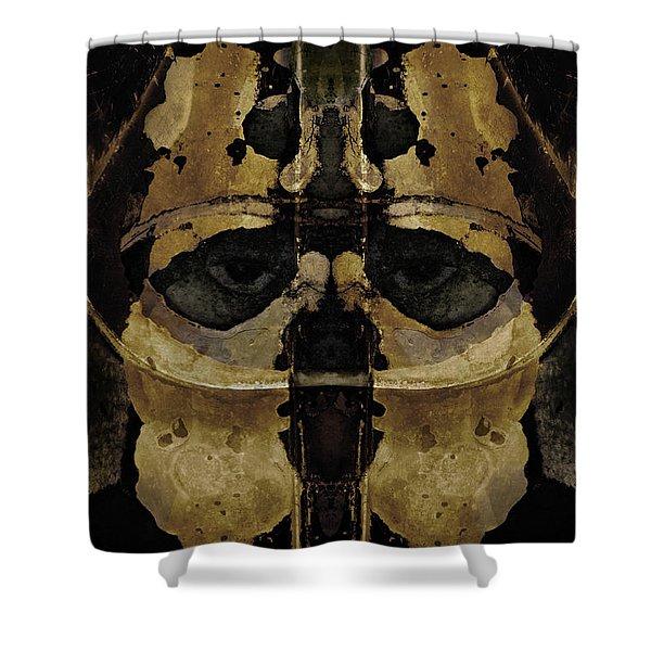 The Warrior Shower Curtain by David Gordon
