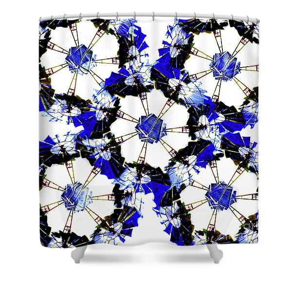 The Windmills Of My Mind Bouquet Shower Curtain by Andee Design