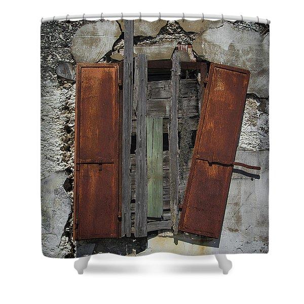 The Window Shower Curtain by Debra and Dave Vanderlaan