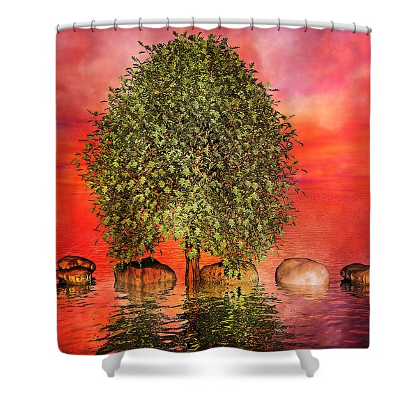 The Wishing Tree One of Two Shower Curtain by Betsy C  Knapp