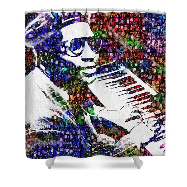 Thelonious Monk Shower Curtain by Jack Zulli
