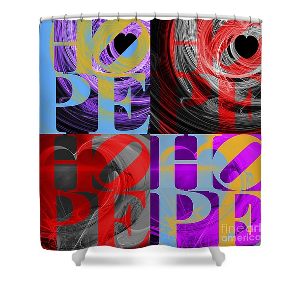 There Is Hope 20130711 Shower Curtain by Wingsdomain Art and Photography