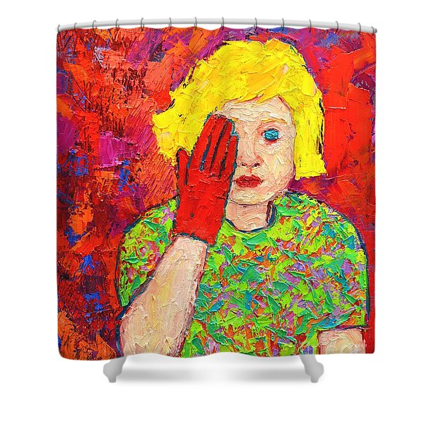 There's No Comfort In The Truth Shower Curtain by Ana Maria Edulescu