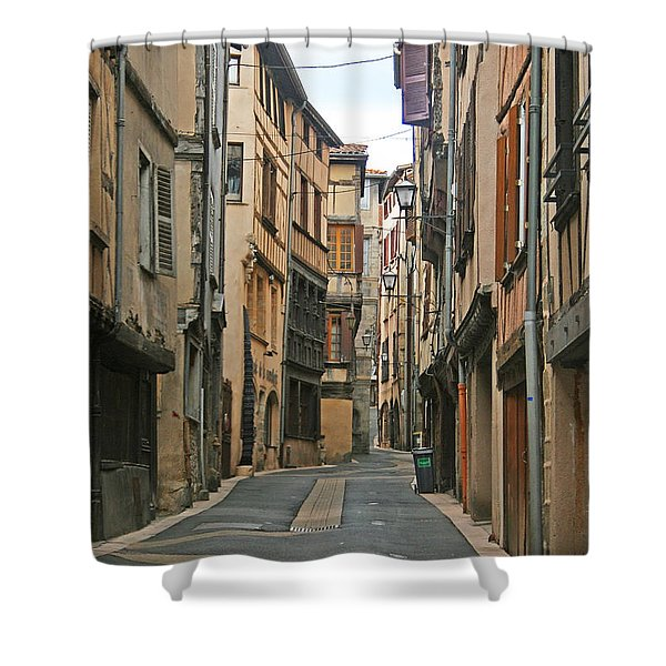 Thiers Shower Curtain by Nomad Art And  Design