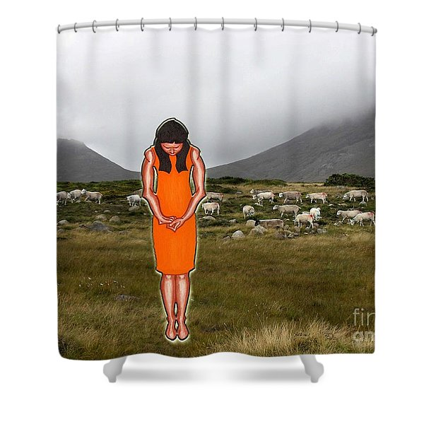 THINKING ABOUT THE SHEPHERD Shower Curtain by Patrick J Murphy