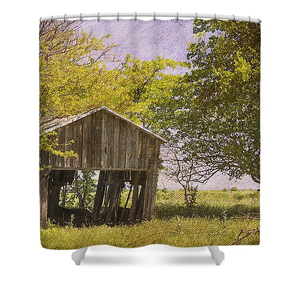 This Old Barn Shower Curtain by Joan Carroll