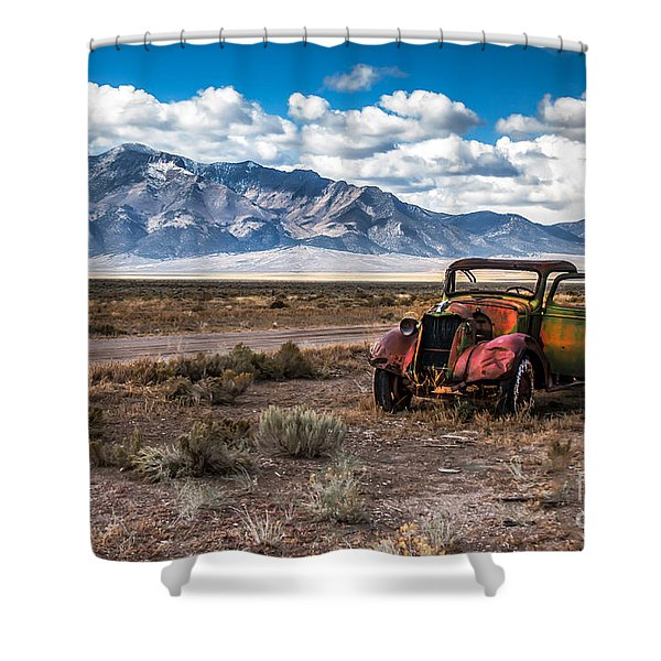 This Old Truck Shower Curtain by Robert Bales