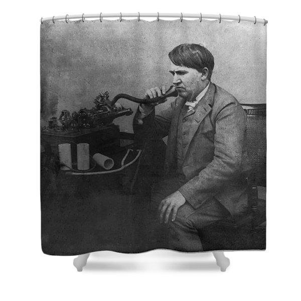 Thomas Alva Edison 1892 Shower Curtain by Digital Reproductions