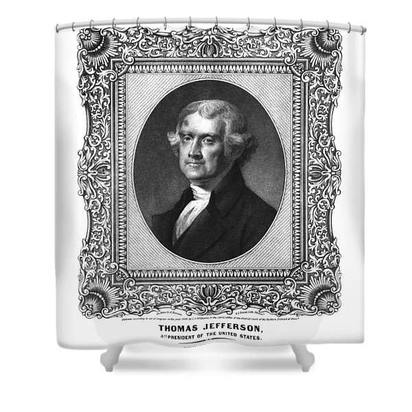 Thomas Jefferson Shower Curtain by Aged Pixel