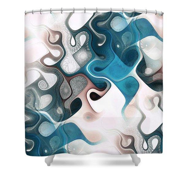 Thought Process Shower Curtain by Anastasiya Malakhova