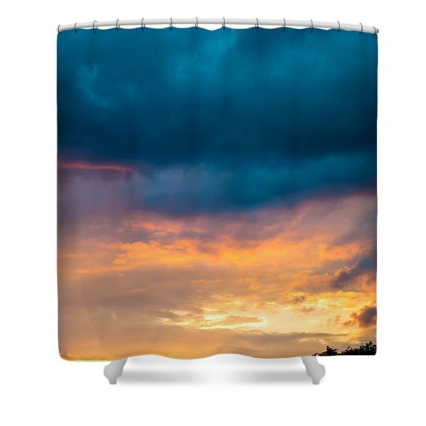 Threatening Skies At Sunset Shower Curtain by Optical Playground By MP Ray
