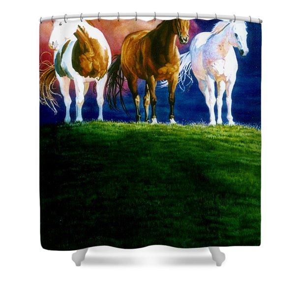 Three Amigos Shower Curtain by Hanne Lore Koehler