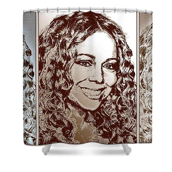 Three Interpretations Of Mariah Carey Shower Curtain by J McCombie