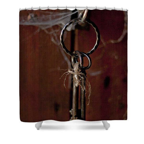 Three Keys Shower Curtain by Nomad Art And  Design