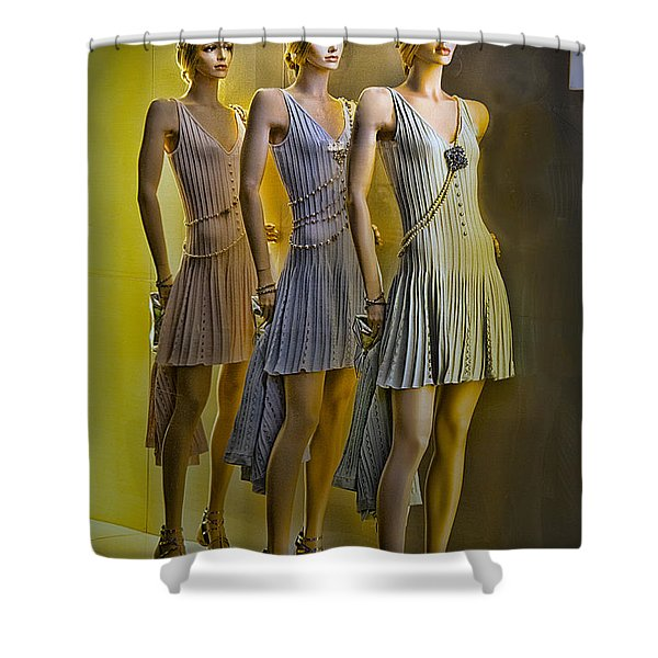 Three Of A Kind Shower Curtain by Chuck Staley