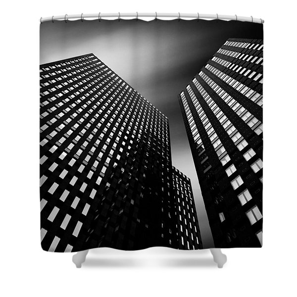 Three Towers Shower Curtain by Dave Bowman
