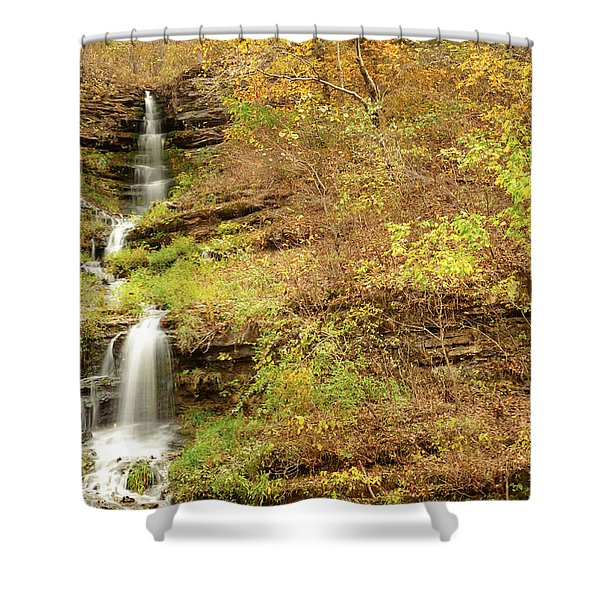 Thunder Falls Shower Curtain by Gregory Ballos