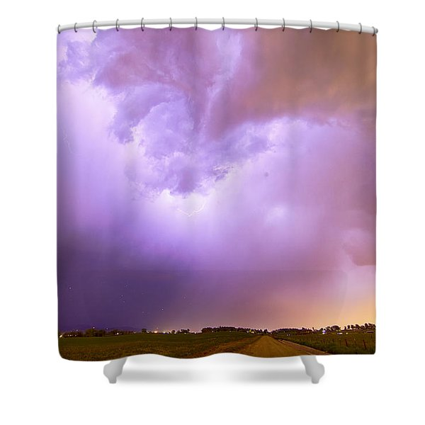 Thunderstorm Tidal Wave Shower Curtain by James BO  Insogna