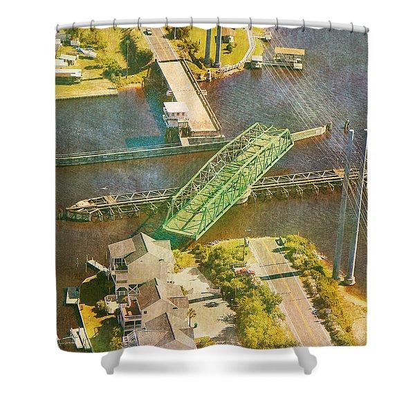 Ti Swingin' Swing Bridge Shower Curtain by Betsy C  Knapp