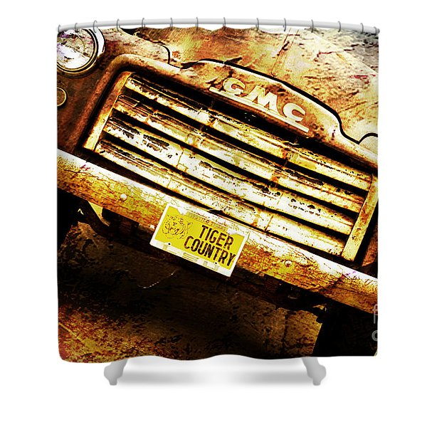 Tiger Country Old School Shower Curtain by Scott Pellegrin