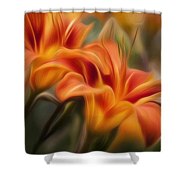 Tiger Lily Shower Curtain by Bill  Wakeley
