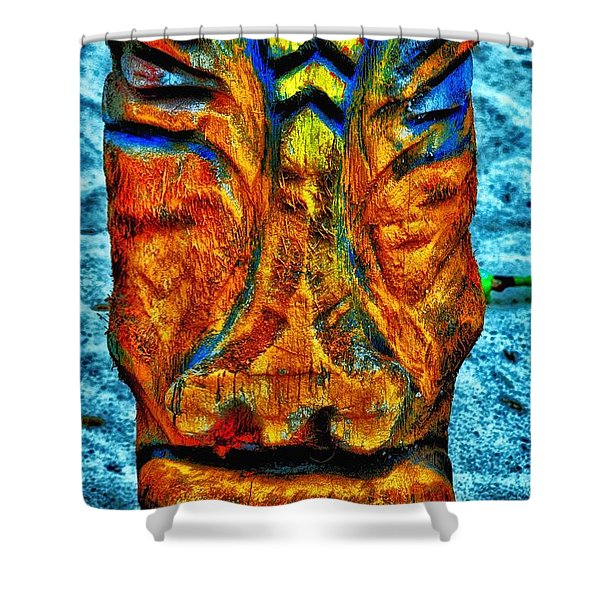Tiki God Shower Curtain by Todd and candice Dailey