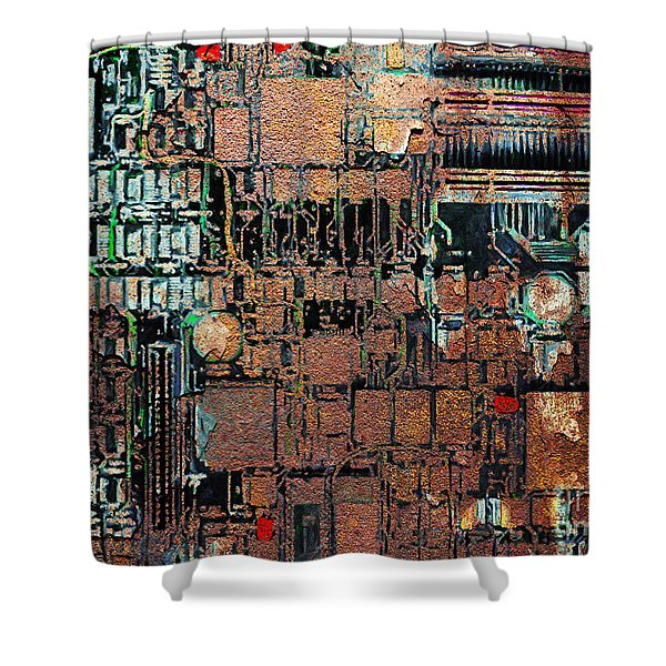 Time For A Motherboard Upgrade 20130716 Shower Curtain by Wingsdomain Art and Photography