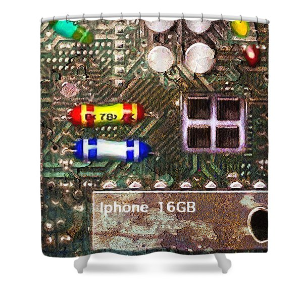Time For An Iphone Upgrade 20130716 Shower Curtain by Wingsdomain Art and Photography