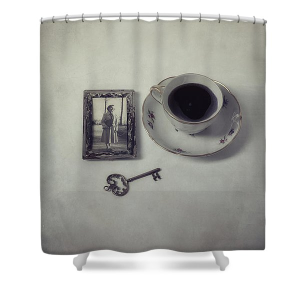 Time For Coffee Shower Curtain by Joana Kruse