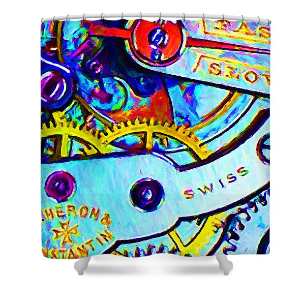 Time In Abstract 20130605 Shower Curtain by Wingsdomain Art and Photography